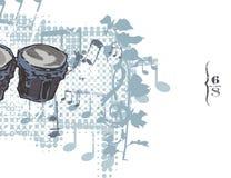 Fundo do instrumento de música Imagens de Stock Royalty Free