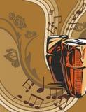 Fundo do instrumento de música Fotos de Stock Royalty Free