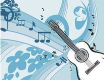 Fundo do instrumento de música Foto de Stock