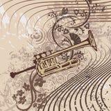 Fundo do instrumento de música de Grunge Fotografia de Stock Royalty Free