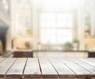 Fundo do interior do tampo da mesa e do borrão Fotografia de Stock