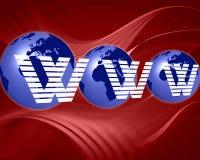 Fundo do Internet do globo do mundo Foto de Stock