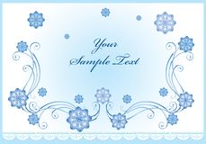 Fundo do inverno ilustração stock