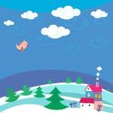 Fundo do inverno. ilustração stock