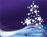 Fundo do inverno com a árvore de Natal estilizado Imagens de Stock