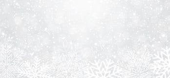 Fundo do inverno com flocos de neve ilustração do vetor