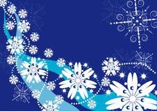 Fundo do inverno com flocos de neve Ilustração Stock