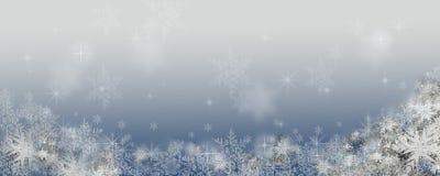 Fundo do inverno com flocos de neve Imagens de Stock Royalty Free