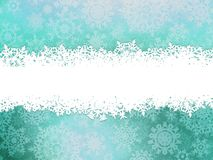 Fundo do inverno com flocos de neve. EPS 10 Imagem de Stock