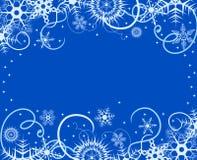 Fundo do inverno com flocos de neve. Illustra do vetor Imagem de Stock