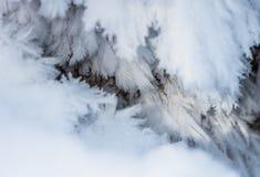 Fundo do inverno com neve e geada Foto de Stock Royalty Free