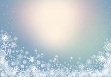 Fundo do inverno com os flocos de neve para suas próprias criações fotografia de stock
