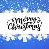 Fundo do inverno com rotulação alegre Molde da beira do Natal ilustração do vetor