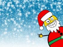 Fundo do inverno de Papai Noel Foto de Stock