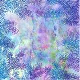 Fundo do inverno de ramos do abeto Fundo do vetor do Natal com quadro dos ramos de árvore do abeto Imagem de Stock Royalty Free