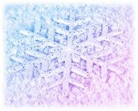 Fundo do inverno do floco de neve Fotos de Stock Royalty Free