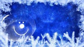 Fundo do inverno e do Feliz Natal ilustração do vetor