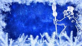 Fundo do inverno e do Feliz Natal ilustração stock