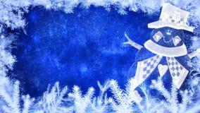 Fundo do inverno e do Feliz Natal ilustração royalty free