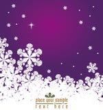 Fundo do inverno, flocos de neve Imagem de Stock Royalty Free