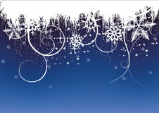 Fundo do inverno, flocos de neve Imagens de Stock Royalty Free