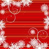 Fundo do inverno, flocos de neve Imagem de Stock
