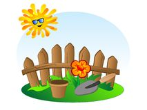 Fundo do jardim ilustração stock