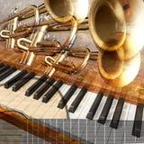 Fundo do jazz Fotografia de Stock Royalty Free