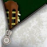 Fundo do jazz com guitarra e o zipper aberto Fotos de Stock