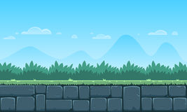Fundo do jogo dos desenhos animados Fotos de Stock