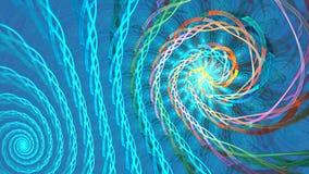 Fundo do laço do Fractal com formas abstratas Laço detalhado alto filme