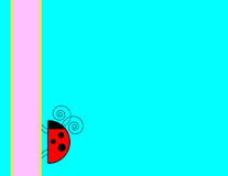 Fundo do Ladybug Ilustração Stock
