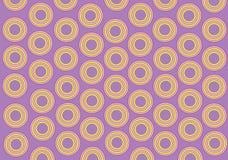 Fundo do Lilac, círculos amarelos Foto de Stock