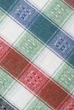 Fundo do macro de matéria têxtil Fotos de Stock Royalty Free