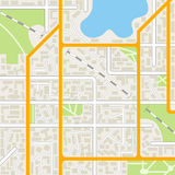Fundo do mapa da cidade Imagem de Stock