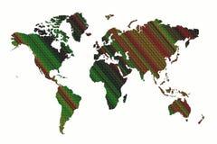 Fundo do mapa de mundo Ilustração Stock