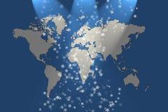 Fundo do mapa de mundo Foto de Stock