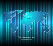 Fundo do mapa de mundo Fotos de Stock