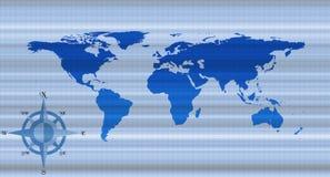 Fundo do mapa de mundo Fotografia de Stock Royalty Free