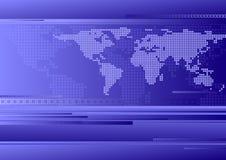 Fundo do mapa de mundo Fotos de Stock Royalty Free