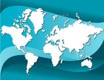 Fundo do mapa de mundo ilustração royalty free