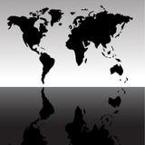Fundo do mapa de mundo Imagem de Stock Royalty Free