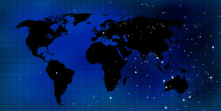 Fundo do mapa de mundo Fotos de Stock Royalty Free