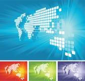 Fundo do mapa de mundo do vetor Fotografia de Stock