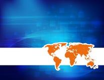 Fundo do mapa do mundo Imagens de Stock