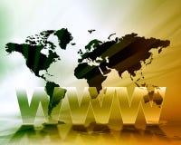 Fundo do mapa do World Wide Web Imagens de Stock