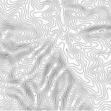 Fundo do mapa topográfico com espaço para a cópia Alinhe o fundo do contorno do mapa da topografia, sumário geográfico da grade ilustração stock