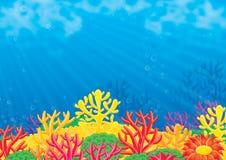 Fundo do mar Imagens de Stock Royalty Free