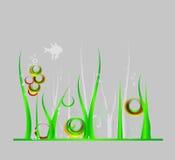 Fundo do mar com algas verdes Fotos de Stock Royalty Free