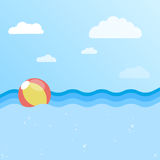 Fundo do mar com bola inflável Fotografia de Stock